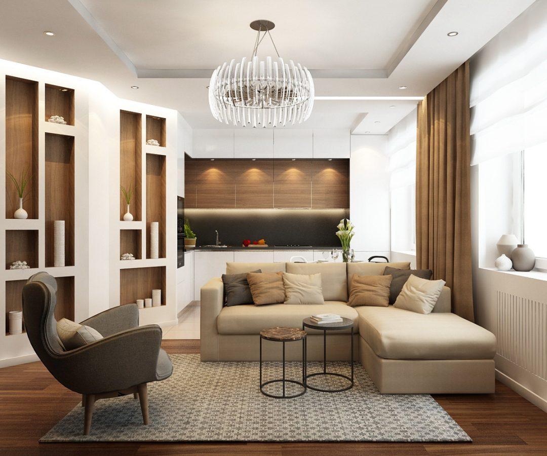 Дизайн-проект двухкомнатной квартиры 70 кв.м.