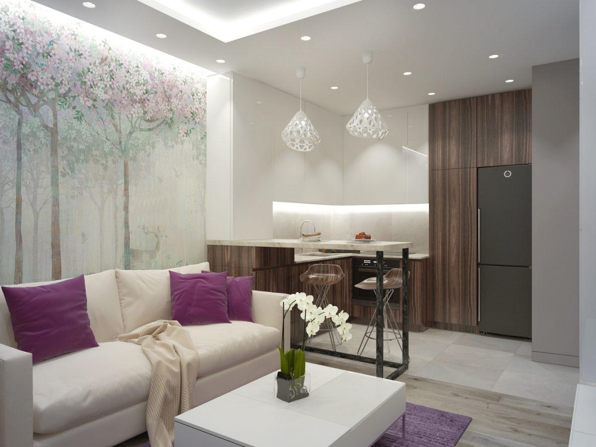 Дизайн проект однокомнатной 38 кв.м.