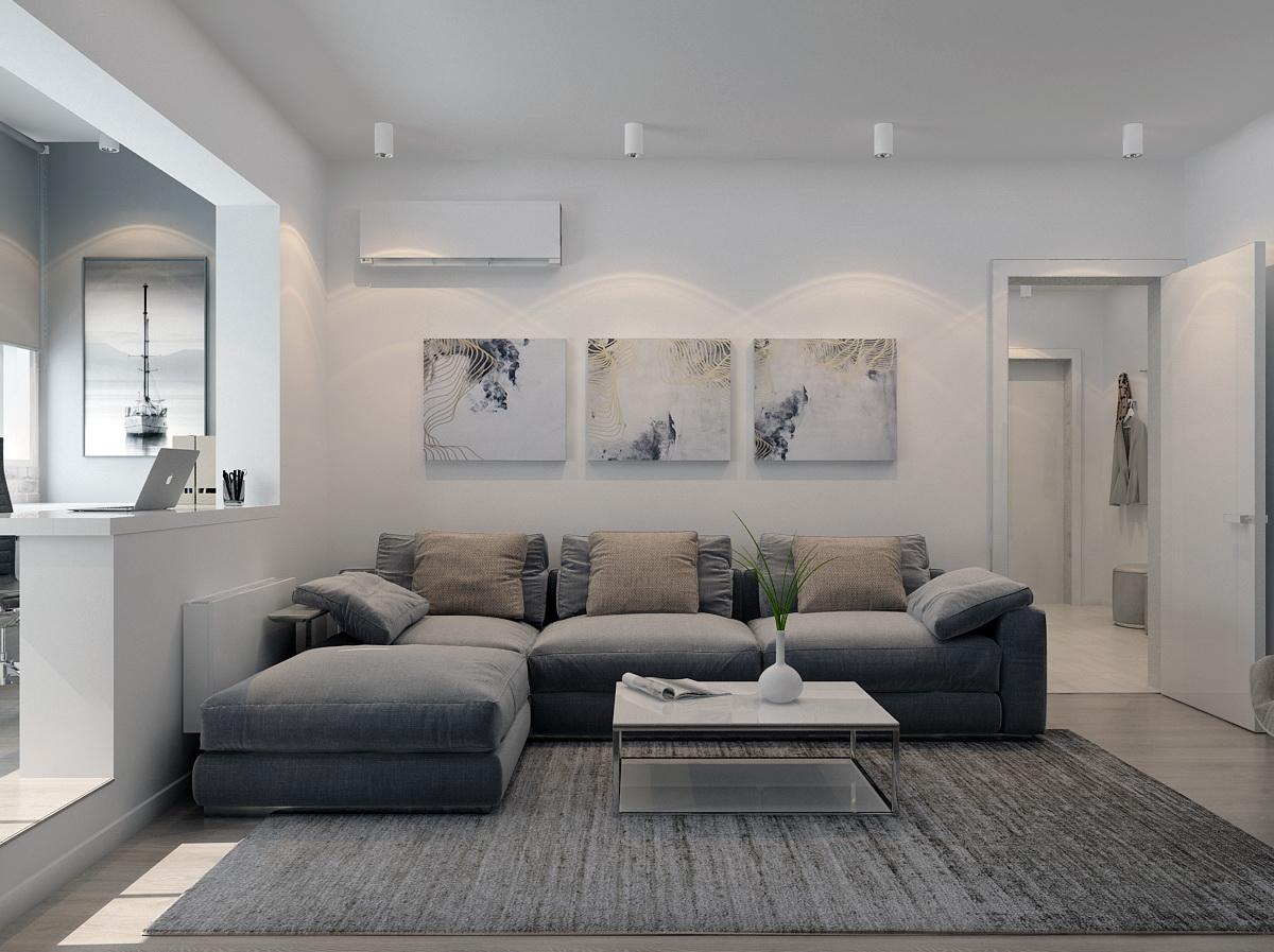 Дизайн-проект двухкомнатной квартиры 66 кв.м.
