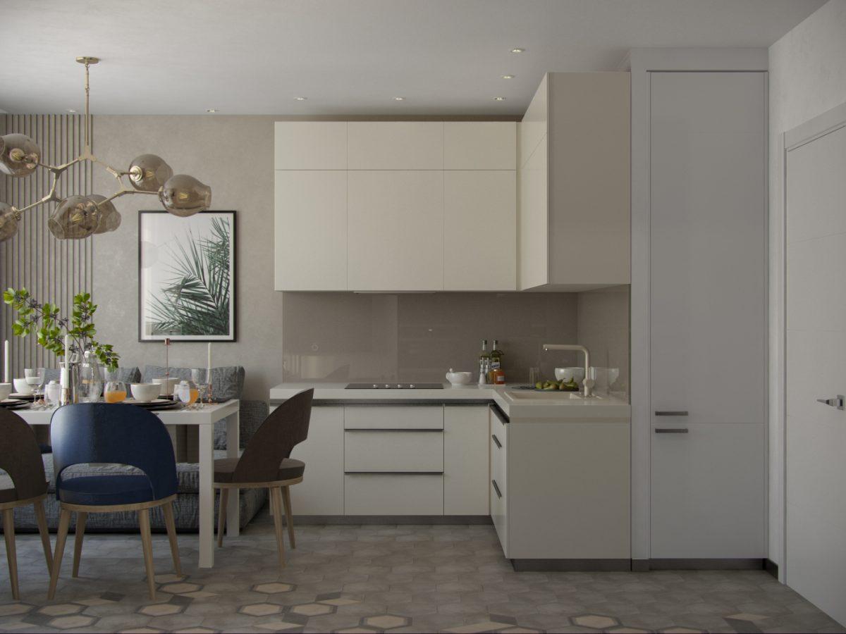 Дизайн-проект трехкомнатной квартиры 77 кв.м.